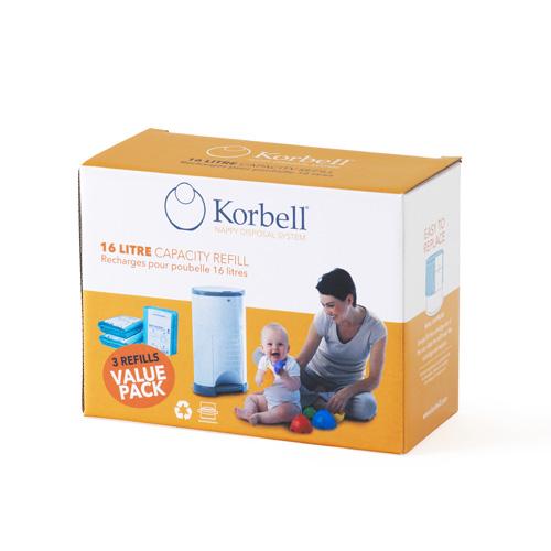 Korbell 16L-wkład worek/Refill 3-pack